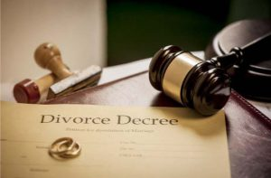Divorce decree on our Southfield family law attorneys desk